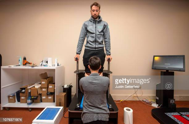 Davide Villella of Italy and Astana Pro Team / Sidas Insoles / Chiropodist / on December 18 2018 in Altea Spain