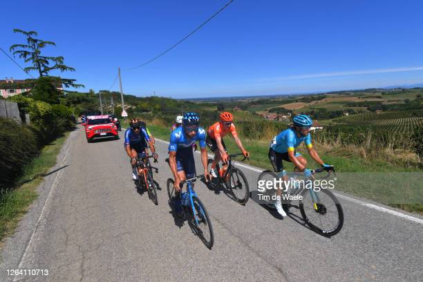 Davide Villella of Italy and Movistar Team / Manuele Boaro of Italy and Astana Pro Team / Alessandro Tonelli of Italy and Team Bardiani Csf Faizane'/...