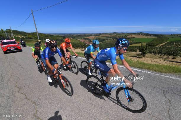 Davide Villella of Italy and Movistar Team / Samuele Rivi of Italy and Team Italy / Manuele Boaro of Italy and Astana Pro Team / Alessandro Tonelli...