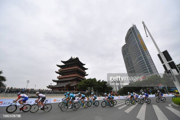 Davide Villella of Italy and Team Astana Pro Team / Axel Domont of France and Team Ag2R La Mondiale / Julien Duval of France and Team Ag2R La...