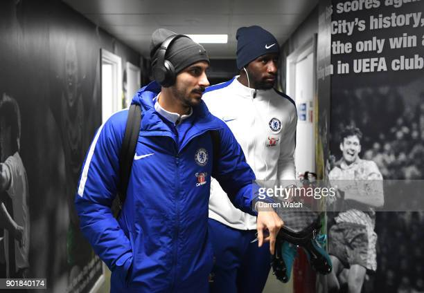 Davide Zappacosta of Chelsea arrives for the The Emirates FA Cup Third Round match between Norwich City and Chelsea at Carrow Road on January 6 2018...