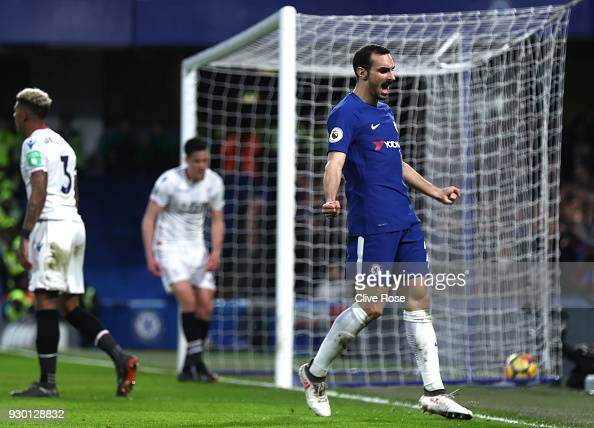 Davide Zappacosta Of Chelsea Celebrates His Sides Second