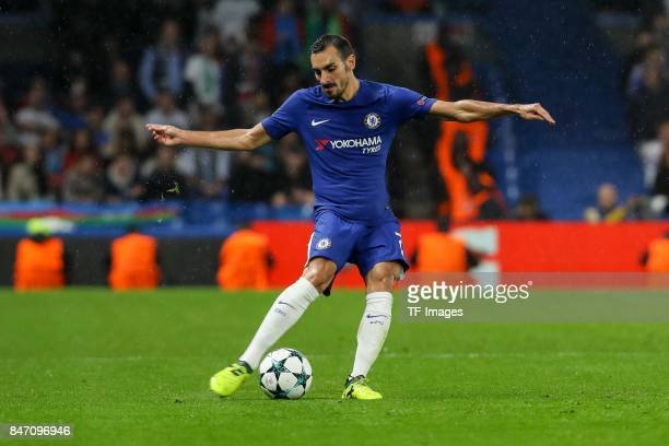 Davide Zappacosta of Chelsea controls the ball during the UEFA Champions League group C match between Chelsea FC and Qarabag FK at Stamford Bridge on...