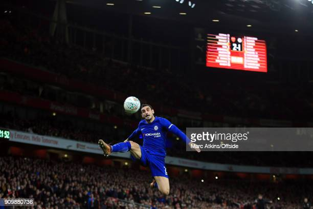 Davide Zappacosta of Chelsea during the Carabao Cup SemiFinal 2nd leg match between Arsenal and Chelsea at Emirates Stadium on January 24 2018 in...