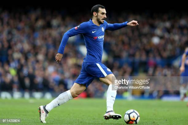 Davide Zappacosta of Chelsea during The Emirates FA Cup Fourth Round match between Chelsea and Newcastle United at Stamford Bridge on January 28 2018...