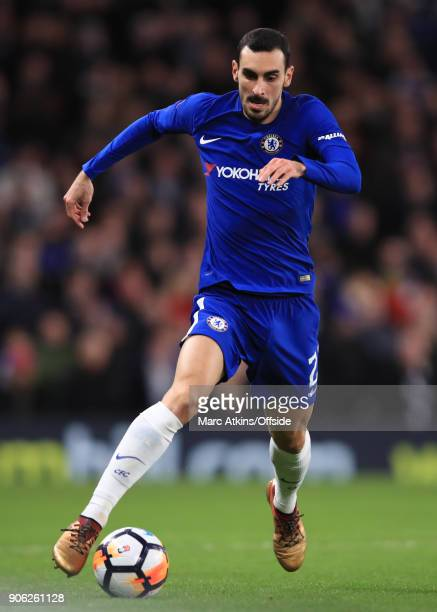 Davide Zappacosta of Chelsea during the Emirates FA Cup Third Round Replay match between Chelsea and Norwich City at Stamford Bridge on January 17...