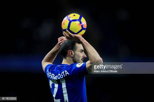 Davide Zappacosta of Chelsea during the Premier League match between Chelsea and West Bromwich Albion at Stamford Bridge on February 12 2018 in...