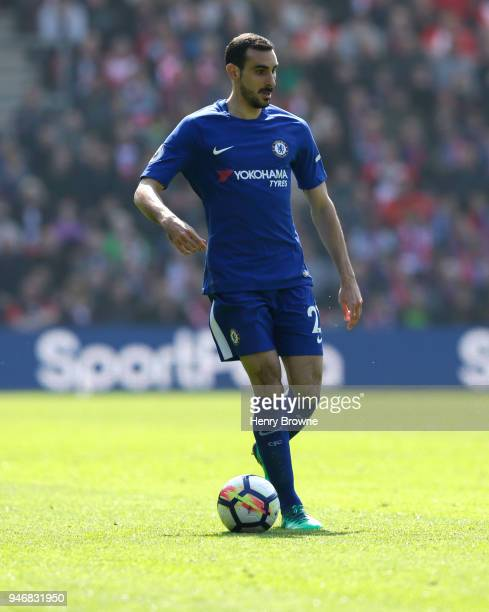 Davide Zappacosta of Chelsea during the Premier League match between Southampton and Chelsea at St Mary's Stadium on April 14 2018 in Southampton...