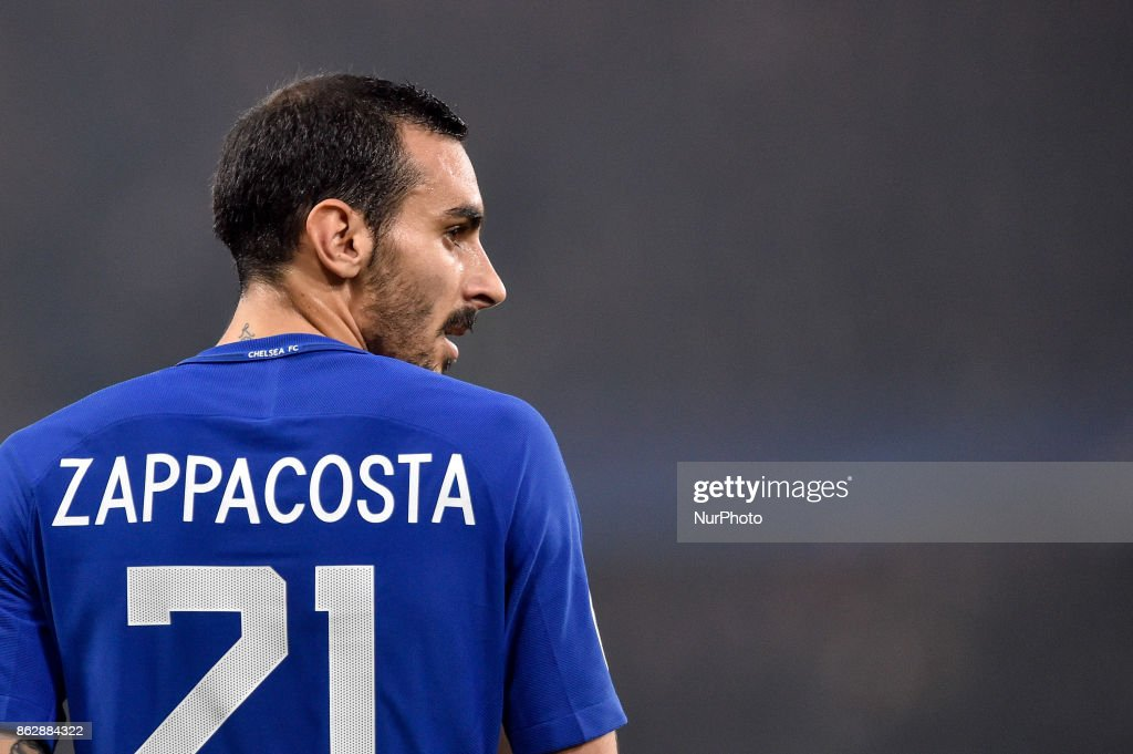 Davide Zappacosta of Chelsea during the UEFA Champions League match between Chelsea v AS Roma at Stamford Bridge Stadium, London, United Kingdom on 18 October 2017.