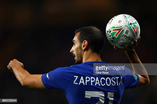 Davide Zappacosta of Chelsea in action during the Carabao Cup Third Round match between Chelsea and Nottingham Forest at Stamford Bridge on September...