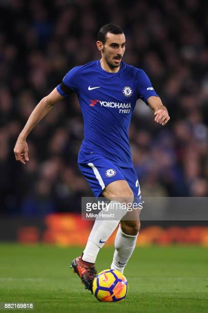 Davide Zappacosta of Chelsea in action during the Premier League match between Chelsea and Swansea City at Stamford Bridge on November 29 2017 in...