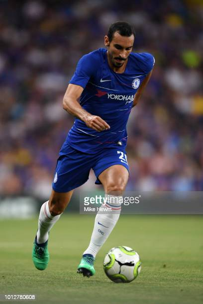 Davide Zappacosta of Chelsea in action during the preseason friendly match between Chelsea and Lyon at Stamford Bridge on August 7 2018 in London...
