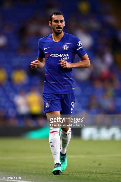 Davide Zappacosta of Chelsea in action during the preseason friendly match between Chelsea and Olympique Lyonnais at Stamford Bridge on August 7 2018...