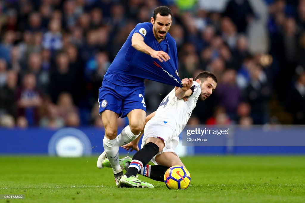 Davide Zappacosta Of Chelsea Is Fouled By Luka Milivojevic