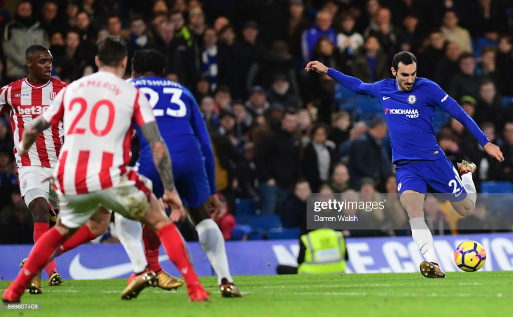 Davide Zappacosta Of Chelsea Scores His Sides Fifth Goal