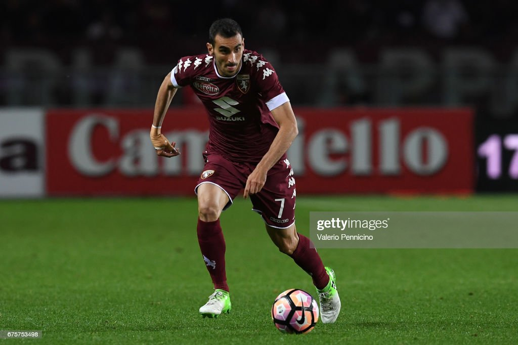 Davide Zappacosta of FC Torino in action during the Serie A match between FC Torino and UC Sampdoria at Stadio Olimpico di Torino on April 29, 2017 in Turin, Italy.