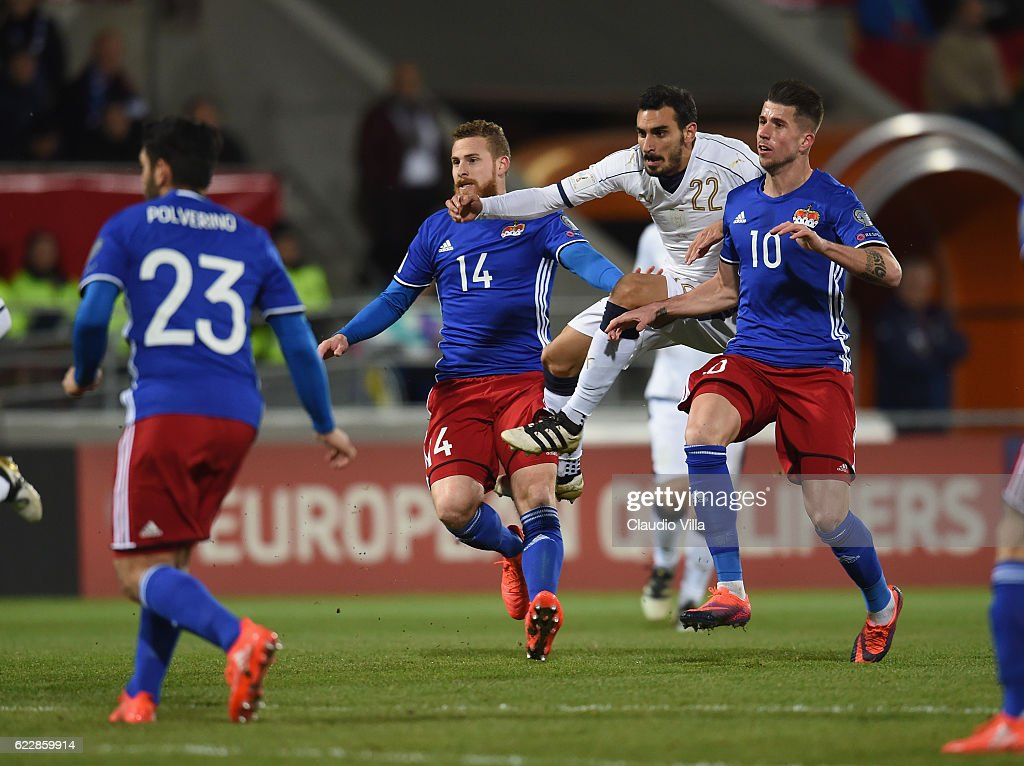 Davide Zappacosta Of Italy Competes For The Ball With Yves