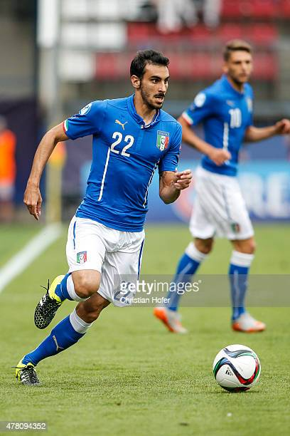 Davide Zappacosta of Italy controls the ball during the UEFA Under21 European Championship between Italy and Sweden at Andruv Stadium on June 18 2015...
