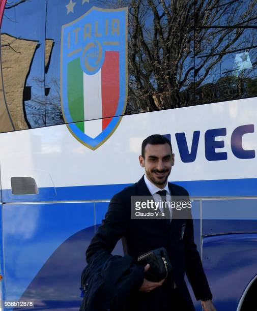 Davide Zappacosta of Italy departs to Manchester on March 22 2018 in Florence Italy
