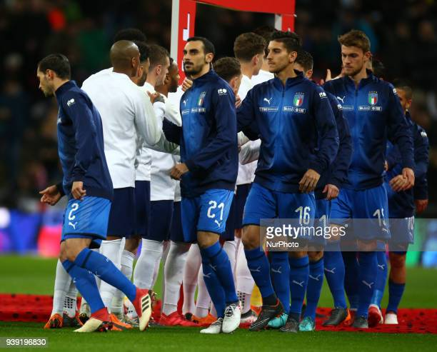 Davide Zappacosta of Italy during International Friendly match between England against Italy at Wembley stadium London England on 27 March 2018