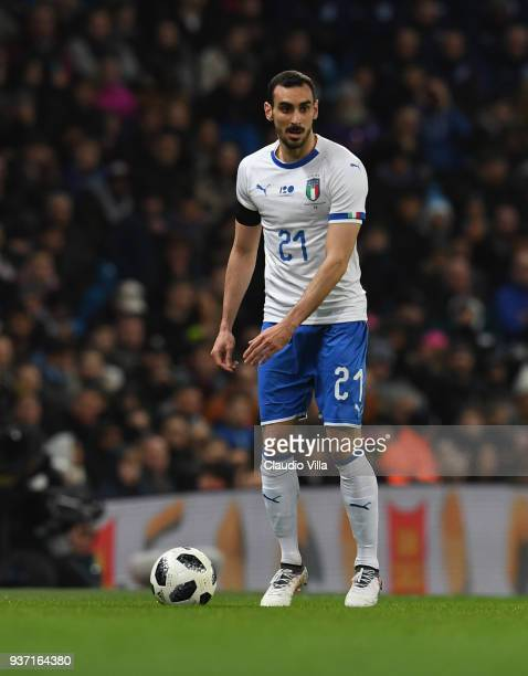 Davide Zappacosta of Italy in action during the International Friendly between Argentina and Italy at Etihad Stadium on March 23 2018 in Manchester...