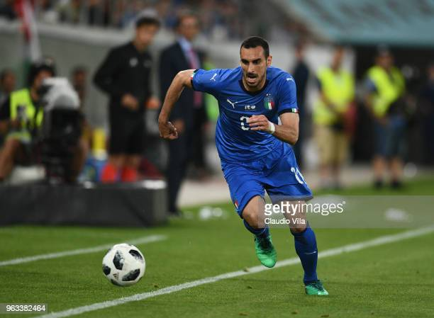 Davide Zappacosta of Italy in action during the International Friendly match between Saudi Arabia and Italy on May 28 2018 in St Gallen Switzerland