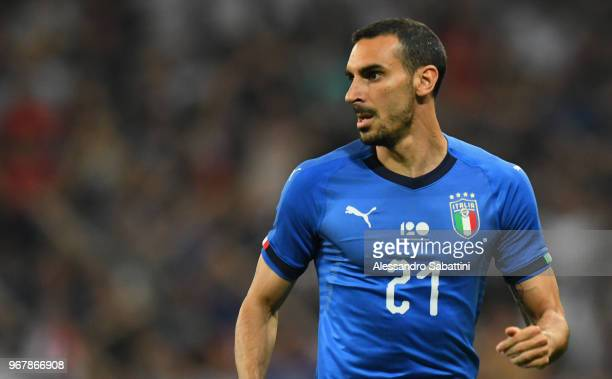 Davide Zappacosta of Italy looks on during the International Friendly match between France and Italy at Allianz Riviera Stadium on June 1 2018 in...