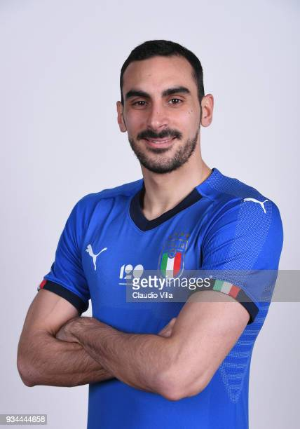 Davide Zappacosta of Italy poses during the official portrait session at Centro Tecnico Federale of Coverciano on March 19 2018 in Florence Italy