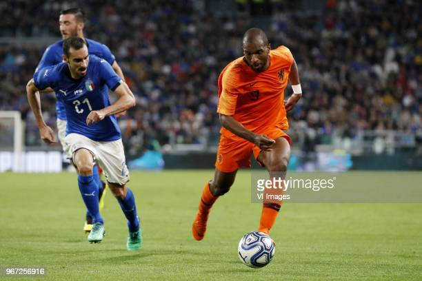 Davide Zappacosta of Italy Ryan Babel of Holland during the International friendly match between Italy and The Netherlands at Allianz Stadium on June...