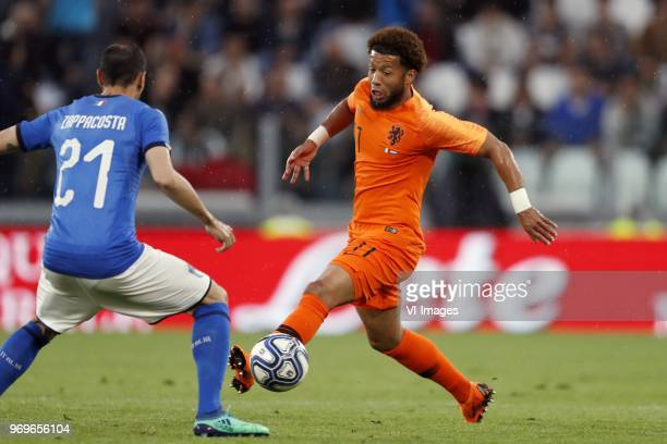 Davide Zappacosta of Italy Tonny Vilhena of Holland during the International friendly match between Italy and The Netherlands at Allianz Stadium on...