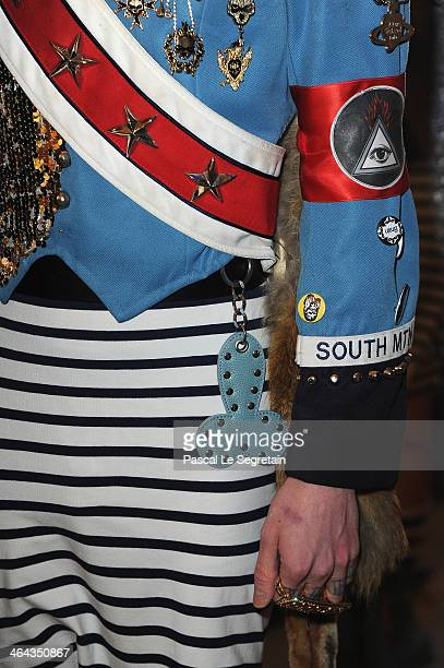 Davide Zingarelli attends the Jean Paul Gaultier show as part of Paris Fashion Week Haute Couture Spring/Summer 2014 on January 22 2014 in Paris...