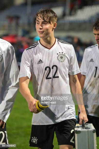 Davide-Jerome Itter looks on during the U20 international friendly match between U19 Switzerland and U19 Germany on August 31, 2017 at Stade...