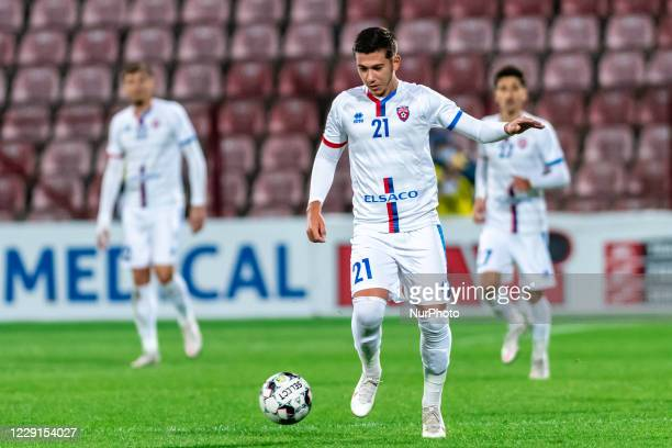 David-Marian Coritoru in action during the 7th game in the Romania League 1 between CFR Cluj and FC Botosani, at Dr.-Constantin-Radulescu-Stadium,...