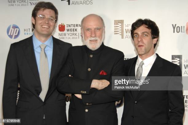 DavidMichel Davies Vinton Cerf and BJ Novak attend 14th Annual Webby Awards at Cipriani Wall Street on June 14 2010 in New York City