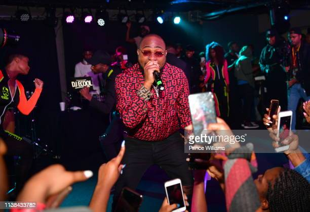 Davido performs during Ecool Friends Birthday Celebration Concert at Loft on March 22 2019 in Atlanta Georgia