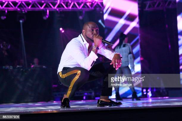 Davido performs on stage at the MOBO Awards at First Direct Arena Leeds on November 29 2017 in Leeds England