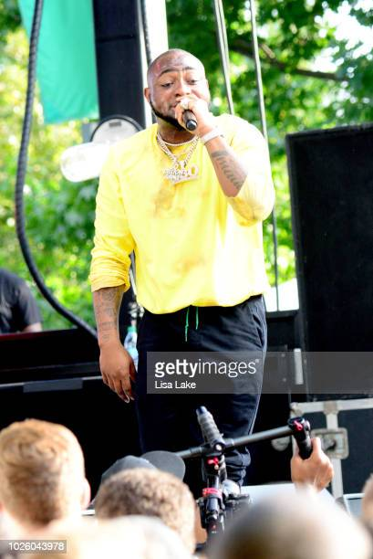Davido performs onstage during the 2018 Made In America Festival Day 1 at Benjamin Franklin Parkway on September 1 2018 in Philadelphia Pennsylvania