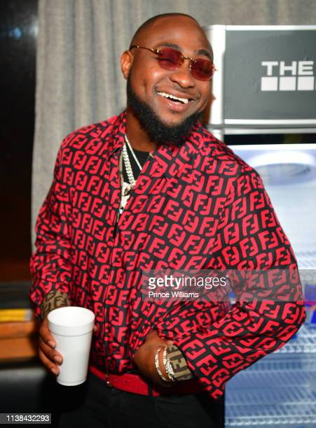 Davido poses during Ecool Friends Birthday Celebration Concert at Loft on March 22 2019 in Atlanta Georgia
