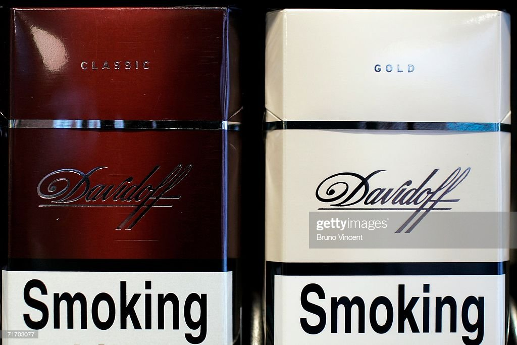 Davidoff brand cigarettes are on display August 23, 2006 in