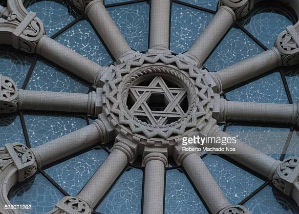 Davids Star A Jewish Symbol Decorating Catholic Church In