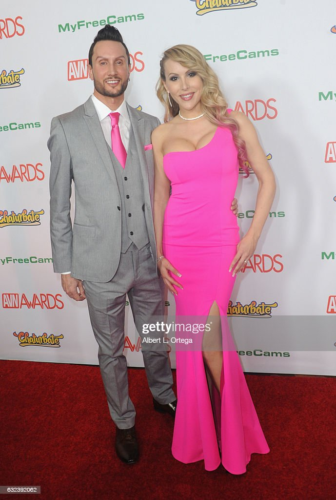 TC Davidson and Katie Banks arrive at the 2017 Adult Video News Awards held at the Hard Rock Hotel & Casino on January 21, 2017 in Las Vegas, Nevada.