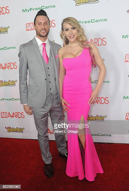 Davidson and Katie Banks arrive at the 2017 Adult Video News Awards held at the Hard Rock Hotel Casino on January 21 2017 in Las Vegas Nevada