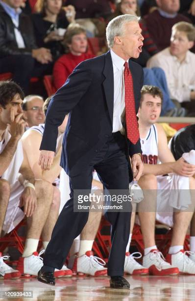 Davidson head coach Bob McKillop doesn't hold back his frustration at a call during the first half of the Wildcats 67-53 win over Chattanooga at Belk...