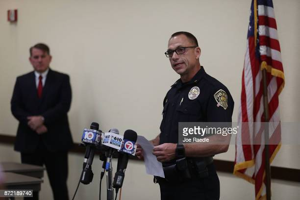 Davie Police legal advisor Gregg Rossman and Davie Police Maj Dale Engle speak to the media about the fatal shooting that occured during a Craigslist...