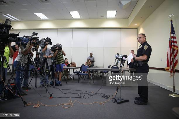 Davie Police Maj Dale Engle speaks to the media about the fatal shooting that occured during a Craigslist transaction for an iPhone on November 9...