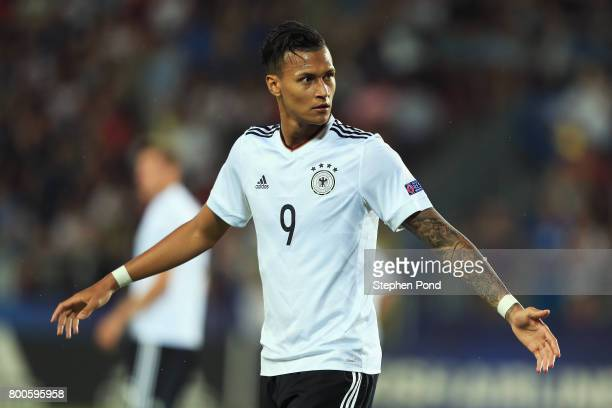 Davie Selke of Germany reacts during the 2017 UEFA European Under21 Championship Group C match between Italy and Germany at Stadion Cracovia on June...