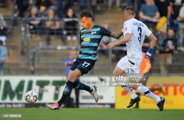 Davie Selke of Hertha BSC and Rode Valentin of SV Babelsberg 03 during the friendly match between Hertha BSC and the SV Babelsberg 03 at the...