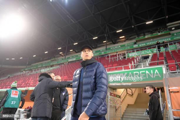 Davie Selke of Hertha BSC before the game between dem FC Augsburg and Hertha BSC on december 10 2017 in Augsburg Germany