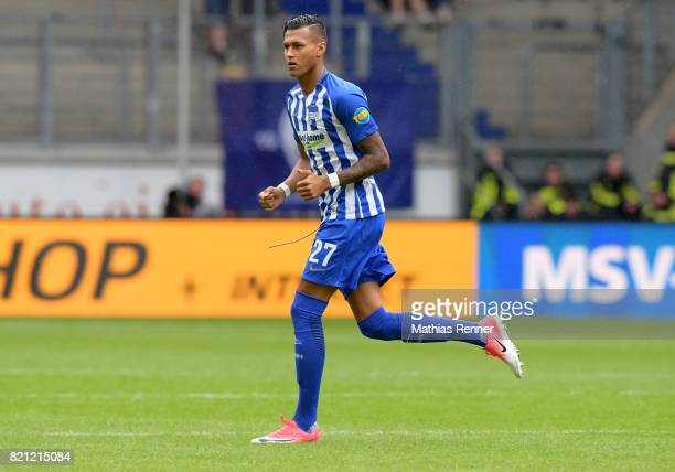 Davie Selke of Hertha BSC during the game between Aston Villa and Hertha BSC on july 23 2017 in Duisburg Germany