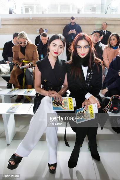 Davika Hoorne and Duang Poshyanonda attends the Michael Kors Collection Fall 2018 Runway Show at the Vivian Beaumont Theatre on February 14 2018 in...